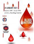 24-01-2021 由华青团与砂拉越中央医院血库配合主办《热血献爱心,携手送温情》捐血活动,假古晋中环车站Level 2举行。